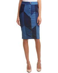 Gracia Pencil Skirt - Blue