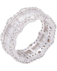 Vendoro - 18k White Gold & 3.64 Total Ct. Diamond Eternity Band Ring - Lyst