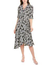 Gracia Floral Wrap Dress - Black