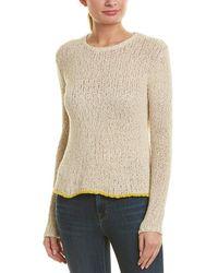 James Perse - Linen-blend Crew Sweater - Lyst