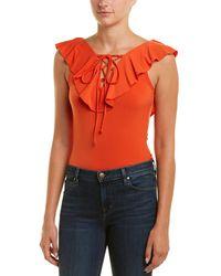 BCBGeneration Ruffle Bodysuit - Orange