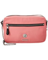 Versus By Versace Leather Shoulder Bag - Pink
