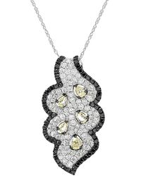 Diana M. Jewels . Fine Jewellery 18k 2.75 Ct. Tw. Diamond Necklace - Multicolour