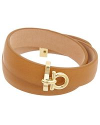 Ferragamo Leather Bracelet - Brown