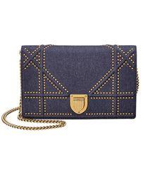 Dior Ama Studded Crossbody - Blue