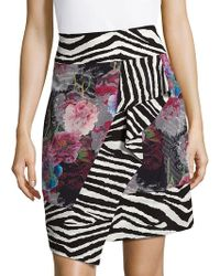 Robert Graham Silk Wrap Skirt - Multicolor