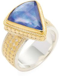 Anna Beck Jewelry - Triangle Wide Lapis Triplet Single Ring - Lyst