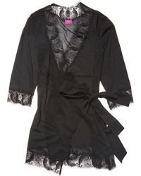 L'Agent by Agent Provocateur - Jada Lace Trim Short Robe - Lyst