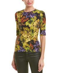 Dolce & Gabbana Floral Silk-blend Top - Black