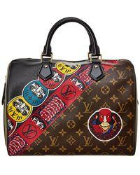 Louis Vuitton Limited Edition Brown Kabuki Monogram Canvas Speedy 30 - Red