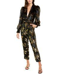 Dodo Bar Or Anatalya Silk-blend Jumpsuit - Black