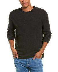 Stone Rose Waffle Wool-blend Crewneck Sweater - Grey