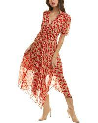 The Kooples Volute Mid Dress - Red