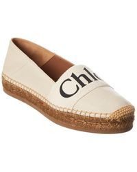 Chloé Woody Leather Espadrille - White