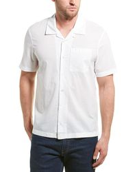 James Perse Voile Camp Collar Shirt - White