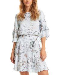 Odd Molly Flower Fantasy Flirt Dress - Blue