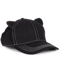 Karl Lagerfeld Cat Ears Baseball Hat - Black