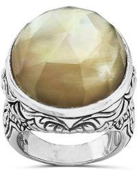 Stephen Dweck Silver 21.00 Ct. Tw. Gemstone Ring - Metallic