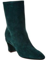 Ferragamo Low Sculptured Heel Ankle Boot - Green