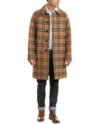 Burberry Vintage Check Alpaca & Wool-blend Car Coat - Brown