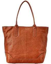 Frye Madison Zipper Leather Tote - Brown