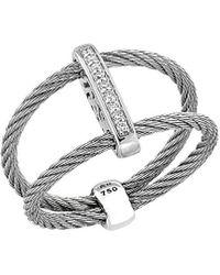 Alor Classique 18k 0.05 Ct. Tw. Diamond Ring - Metallic