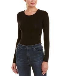 Bardot Lace-up Bodysuit - Black
