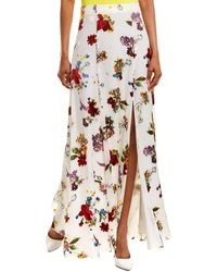 Alice + Olivia Athena Silk-blend Maxi Skirt - Multicolor
