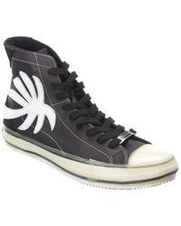 Palm Angels Palm Leather High-top Sneaker - Black
