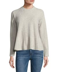 Rebecca Taylor - Var Swing Ribbed Wool Sweater - Lyst