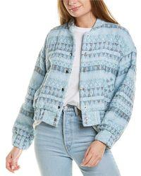 IRO Loupian Silk-blend Jacket - Blue