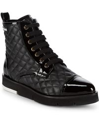 Love Moschino - St. Tod Quilted Booties - Lyst