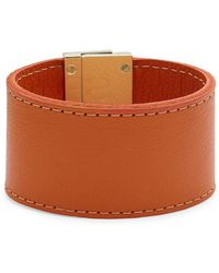 CC SKYE - Leather Wrap Wide Bracelet - Lyst