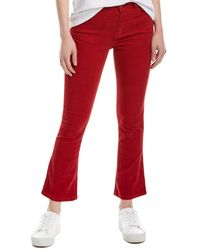 Pam & Gela Cropped Mineral Red Slim Flare Leg