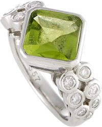 Heritage Platinum 4.20 Ct. Tw. Diamond & Gemstone Ring - Metallic