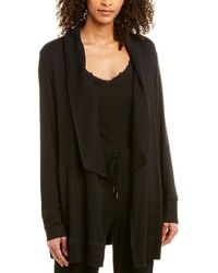 Donna Karan Sleepwear Cardigan - Black