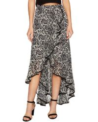 Dress the Population - Audrey Print High Low Skirt - Lyst