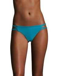 Mikoh Swimwear - Molokai Knotted Skinny String Side Bikini Bottom - Lyst