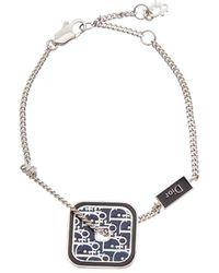 Dior Silver-tone & Enamel Bracelet - Metallic