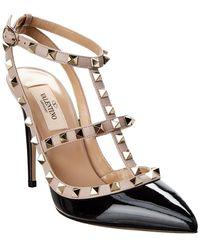 Valentino Garavani Rockstud Ankle Strap Nero/poudre - Black