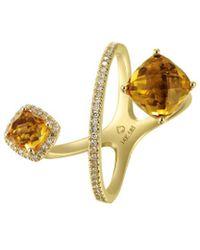 Diana M. Jewels . Fine Jewellery 14k 3.65 Ct. Tw. Diamond & Citrine Ring