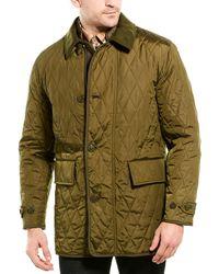 Burberry Wool & Cashmere-blend Jacket - Green