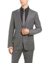 Ermenegildo Zegna 2pc Wool Suit With Flat Pant - Gray