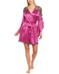 Natori Lolita Silk Robe - Purple