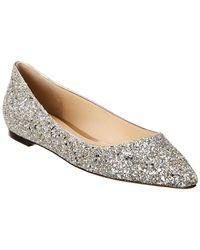 Jimmy Choo Romy Coarse Glitter Flat - Gray