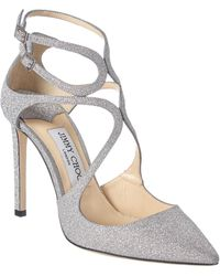 Jimmy Choo Lancer 100 Glitter Pump - Metallic