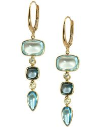Saks Fifth Avenue - 14k Yellow Gold Smooth Cushion Drop Earrings - Lyst
