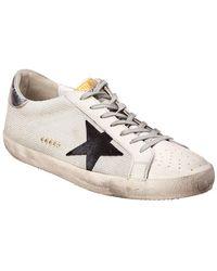Golden Goose Deluxe Brand Leather & Mesh Sneaker - Metallic