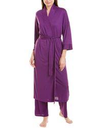 N Natori Congo Robe - Purple