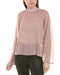 RTA Tennessee High Neck Blouse - Pink